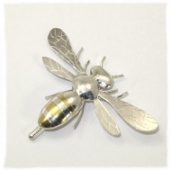 Large silver bee brooch