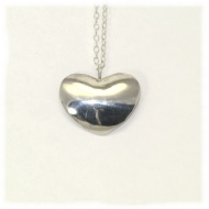Shiny heart sterling silver pendant
