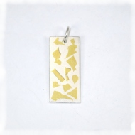 Keum Boo Gold on silver pendant